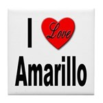 I Love Amarillo Tile Coaster