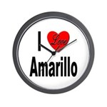 I Love Amarillo Wall Clock