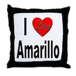 I Love Amarillo Throw Pillow