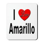 I Love Amarillo Mousepad