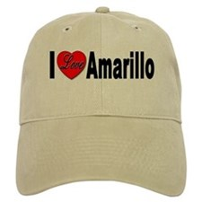 I Love Amarillo Baseball Cap