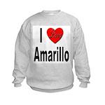 I Love Amarillo (Front) Kids Sweatshirt