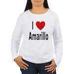 I Love Amarillo (Front) Women's Long Sleeve T-Shir