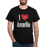 I Love Amarillo (Front) Dark T-Shirt