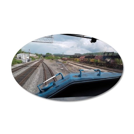 Conrail Ride Along 35x21 Oval Wall Decal
