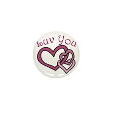 Luv You Mini Button