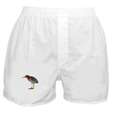 Green Heron Wearing Heels Boxer Shorts