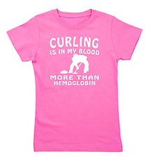 Curling designs Girl's Tee