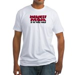 Meanest Mom Fitted T-Shirt