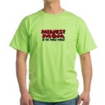 Meanest Mom Green T-Shirt