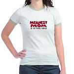 Meanest Mom Jr. Ringer T-Shirt