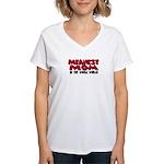 Meanest Mom Women's V-Neck T-Shirt