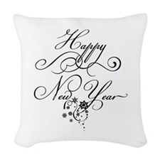 New_Year_Stars Woven Throw Pillow