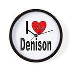 I Love Denison Wall Clock