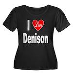 I Love Denison (Front) Women's Plus Size Scoop Nec