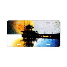Pagoda Aluminum License Plate