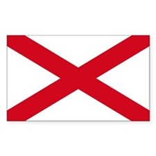 St Patrick's cross Rectangle Decal