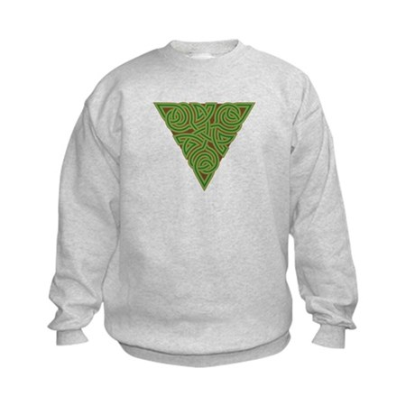 Arboreal Triangle Knot Kids Sweatshirt