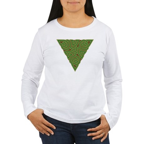 Arboreal Triangle Knot Women's Long Sleeve T-Shirt