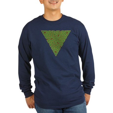Arboreal Triangle Knot Long Sleeve Dark T-Shirt