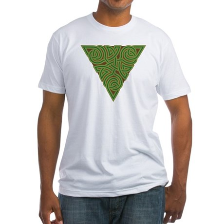 Arboreal Triangle Knot Fitted T-Shirt