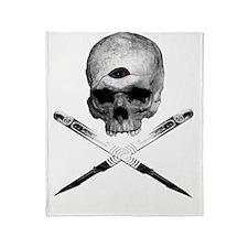 Art Pirate Logo Throw Blanket