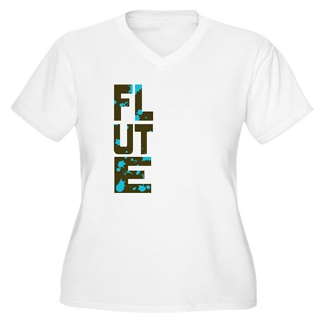 Asymmetrical Flute Women's Plus Size V-Neck T-Shir