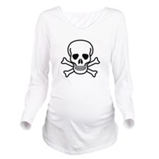 Skull and Bones Desi Long Sleeve Maternity T-Shirt