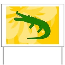 Alligator Glass Cutting Board Small Yard Sign