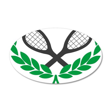 Tennis 35x21 Oval Wall Decal