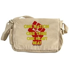 One Nation, One Tribe, One Heart Bea Messenger Bag