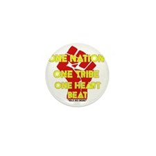 One Nation, One Tribe, One Heart Beat Mini Button