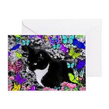 Freckles in Butterflies II Greeting Card