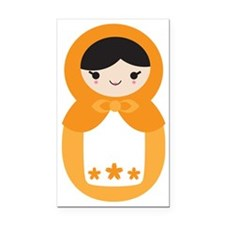 Matryoshka Doll - Orange Rectangle Car Magnet