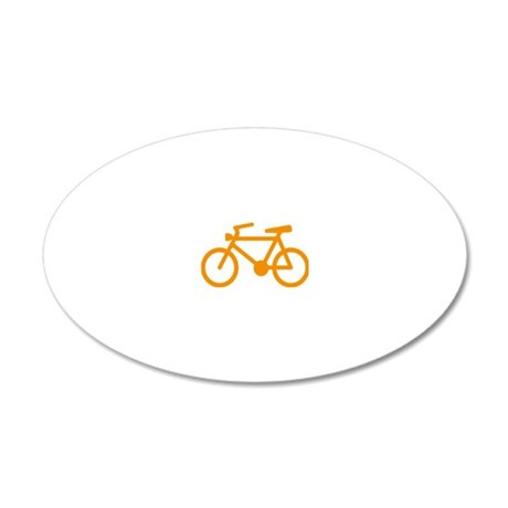 cycling 20x12 Oval Wall Decal