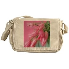 Pink Tulips Messenger Bag