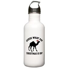 Guess What Day Christmas Is On? Water Bottle