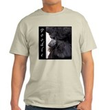 Poodle-Black Show Coat T-Shirt
