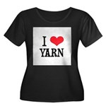 I Love Yarn Women's Plus Size Scoop Neck Dark T-Sh