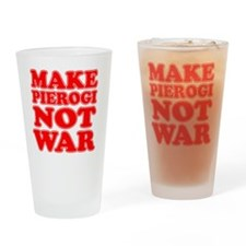 Make Pierogi Not War Apron Drinking Glass