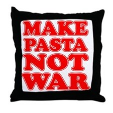 Make Pasta Not War Apron Throw Pillow