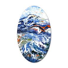 Abstract Mt Rainier 35x21 Oval Wall Decal