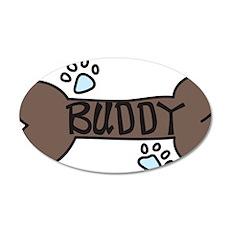 Buddy 35x21 Oval Wall Decal