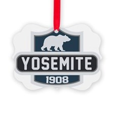 Yosemite Blue Nature Crest Ornament