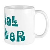 Social Worker Floral Small Mug