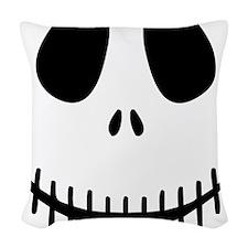 Halloween Skeleton Woven Throw Pillow