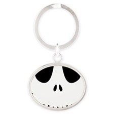 Halloween Skeleton Oval Keychain