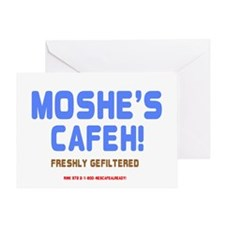 MOSHES CAFEH! - FRESHLY GEFILTERED Greeting Card