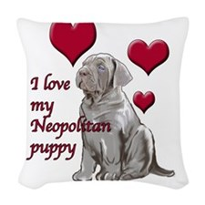 Neopolitan Puppy Love Woven Throw Pillow
