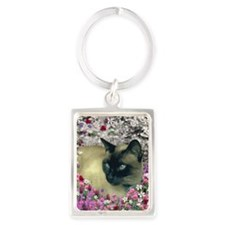 Stella in Flowers I Portrait Keychain